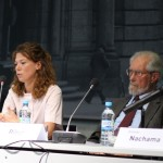 Ekaterina Makhotina und Reinhard Rürup auf dem Podium
