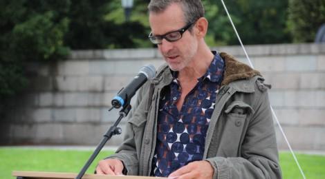 Foto von Schauspieler Ulrich Matthes während der Lesung.
