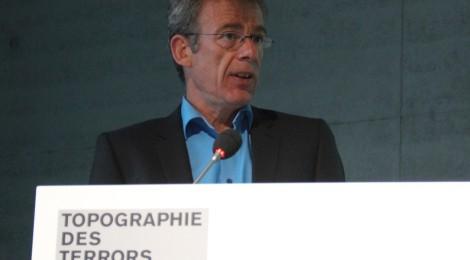 Dr. Christoph Dieckmann bei seinem Vortrag am 26. Mai in der Topographie des Terrors