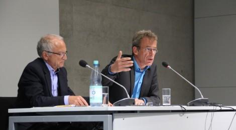 Dr. Andreas Sander und Dr. Christoph Dieckmann auf dem Podium