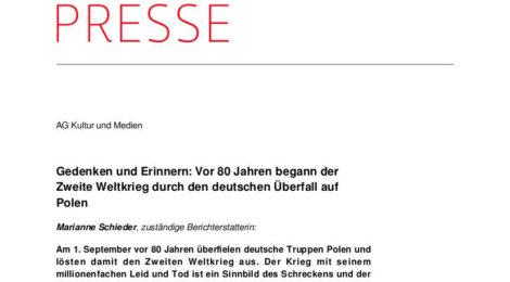 Die SPD-Bundestagsfraktion unterstützt die Einrichtung einer Erinnerungs- und Lernstätte